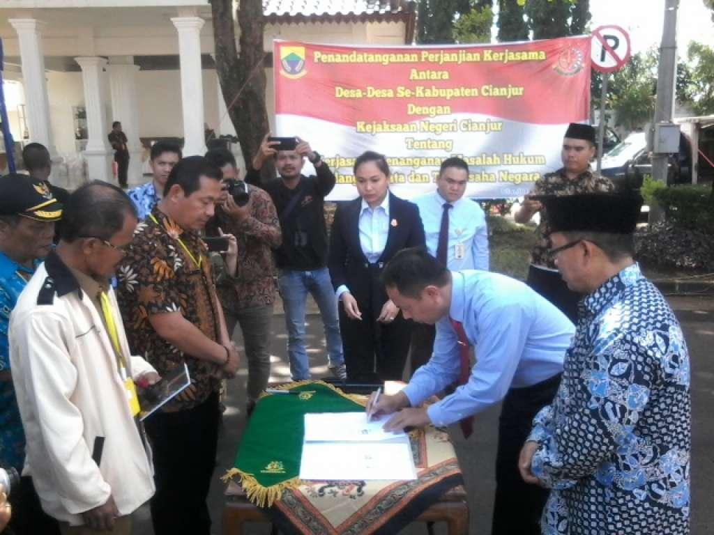 Dibalik Kerjasama Desa dan Kejari Cianjur, Diduga Ada Penyeragamaan Biaya,  Perdesa Rp7.050.000