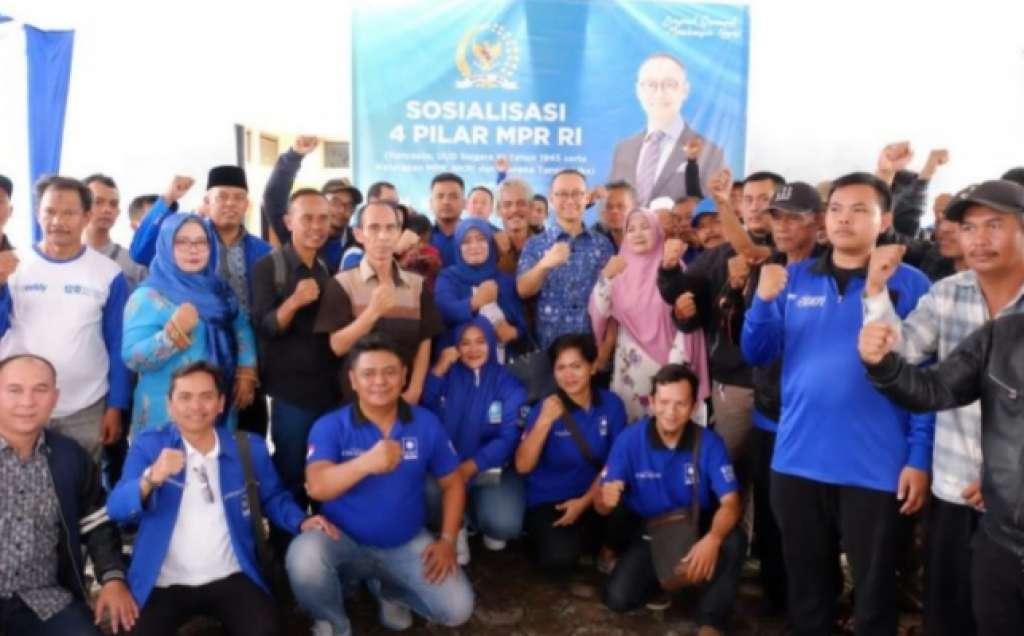 H. Eddy Soeparno Menggelar Sosialisasi Epat Pilar Kebangsaan