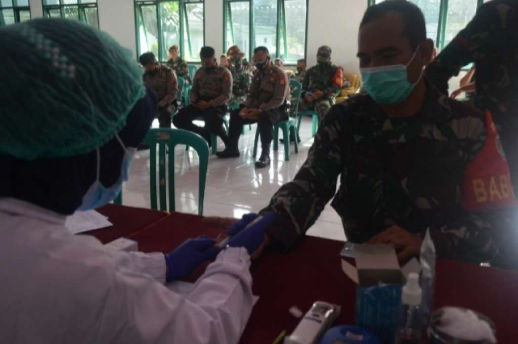Baksos Donor Darah, Warnai Hari Juang Kartika TNI AD di Kodim 0608/Cianjur