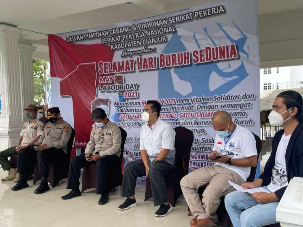 May Day 2021, Buruh Cianjur Tuntut UU Omnibus Law di Cabut