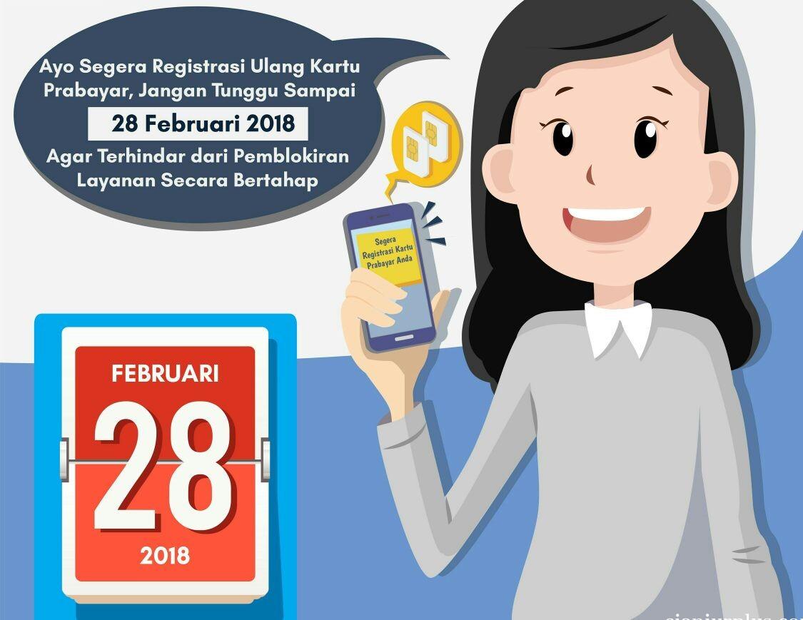Ingat! Seminggu Lagi Batas Akhir Registrasi Kartu SIM Prabayar