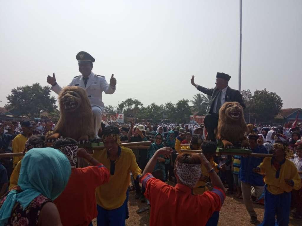 Upacara Peringatan Hut RI ke 74 Tahun 2019, Kecamatan Bojongpicung Berlangsung Meriah