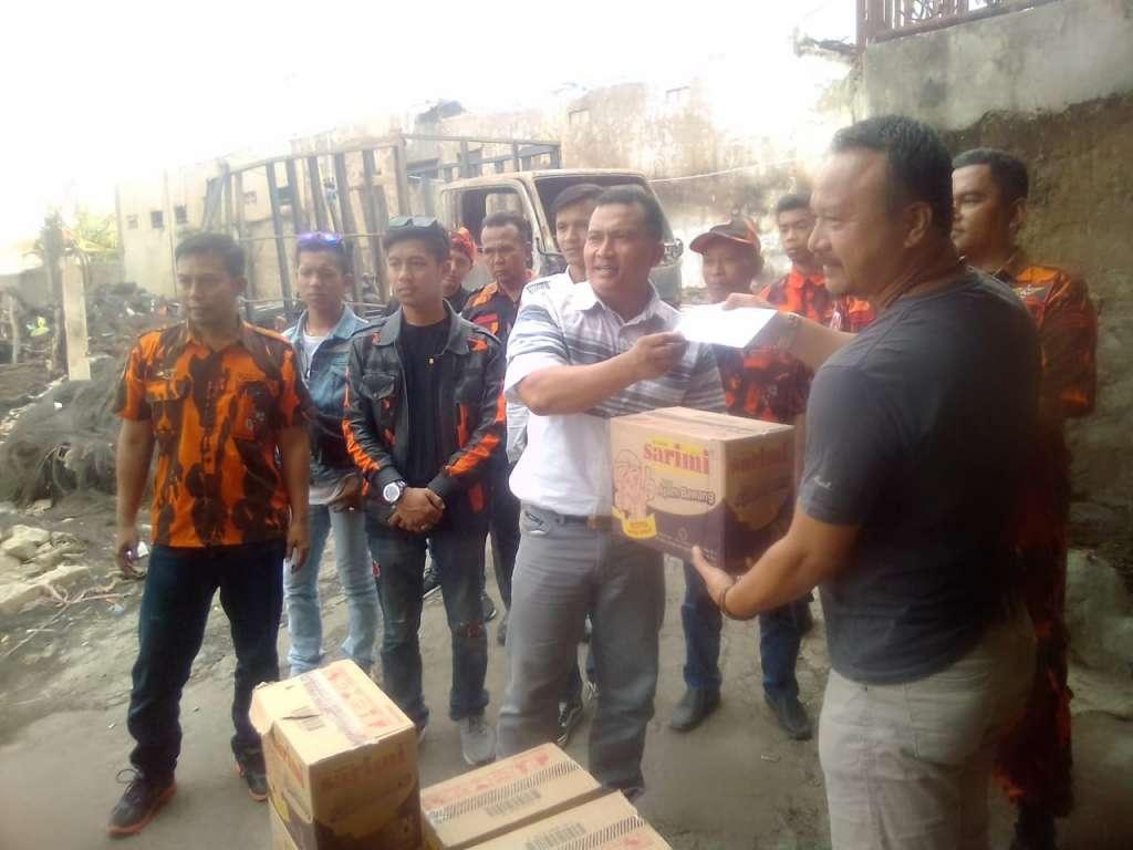 Korban Kebakaran Dapat Bantuan dari PAC-PP Cianjur Kota