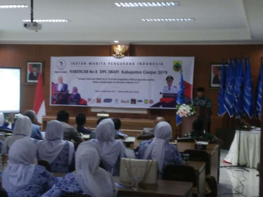 Rakercab DPC IWAPI Cianjur, Dewan Dorong Pengusaha Ikuti Perkembangan Jaman