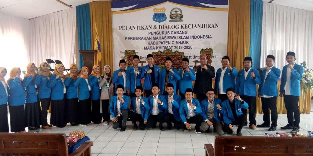 Usai di Lantik : PC PMII Siap Memberikan Warna Baik Untuk Pembangunan Kabupaten Cianjur