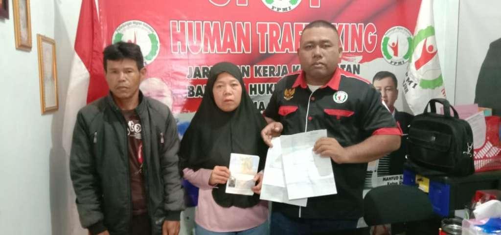 Tersandra 10 Tahun PMI Asal Cianjur Selatan, Lagi di Selamatkan Lsm FPMI