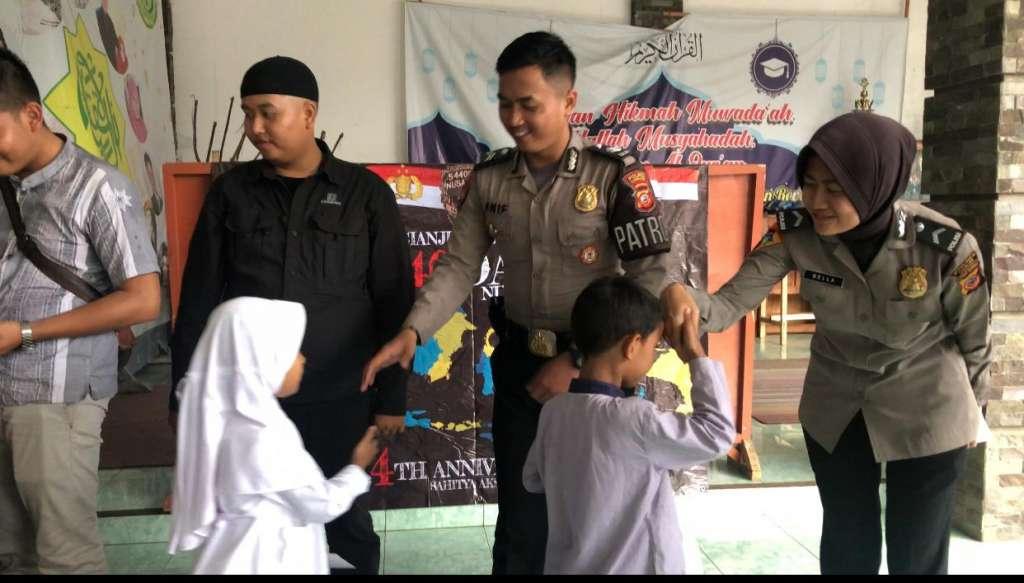 Bintara Angkatan 40 Polres Cianjur, Adakan Santunan Terhadap Anak Yatim