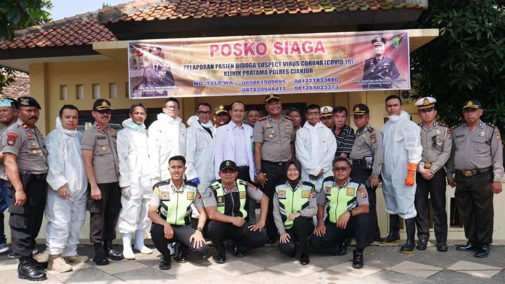 Polres Cianjur, Dirikan Posko Siaga Penanggulangan Virus Corona Bagi Masyarakat