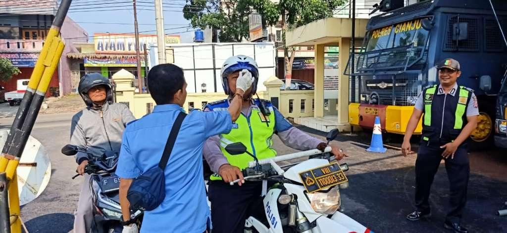 Tim CRT Polres Cianjur, Lakukan Pencegahan Dini Penularan Virus Corona