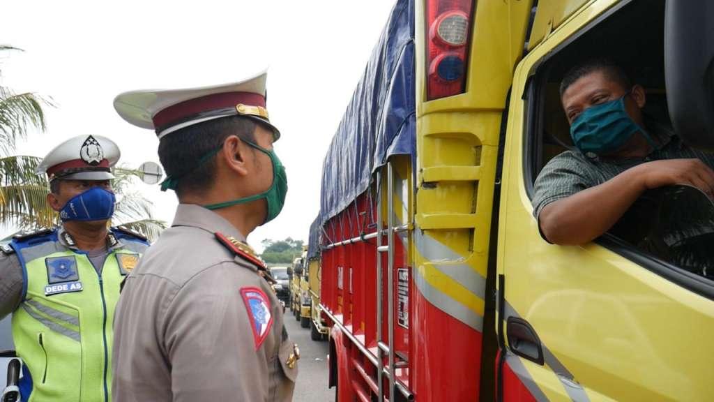 Satlantas Polres Cianjur, Berikan Layanan Pengawalan Barang Logistik Secara Gratis