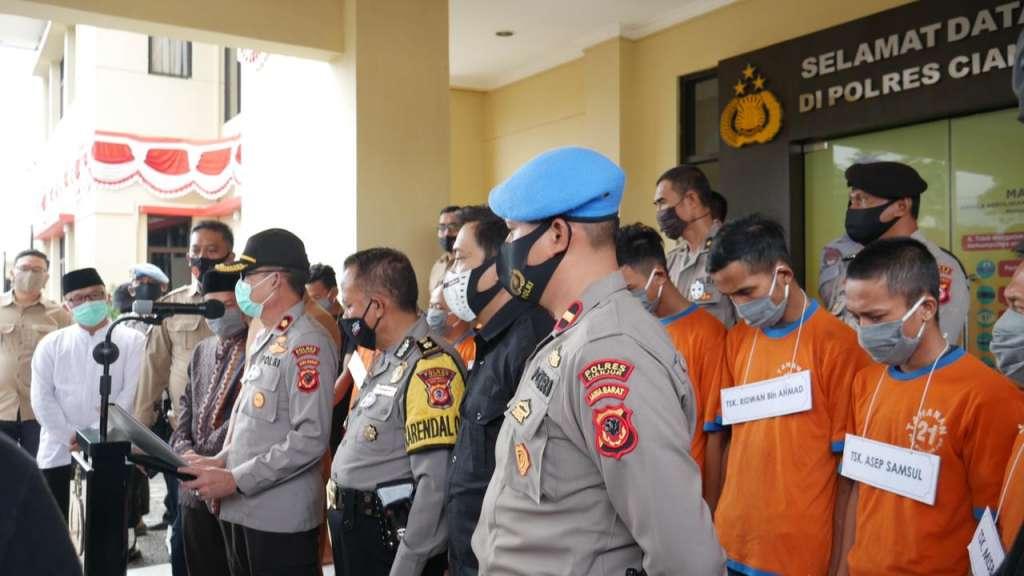 11 Bandar Narkoba Berhasil Ditangkap Satnarkoba Polres Cianjur