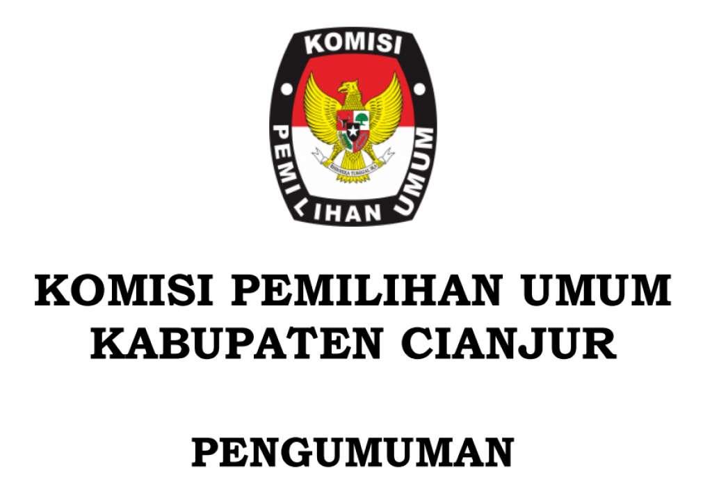 Pengumunan KPUD Cianjur, Mulai Besok Pendaftaran Bapaslon Dibuka