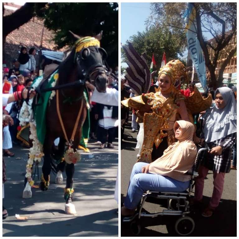 Kuda Kosong Bikin Heboh, Peserta Karnaval Jadi Sasaran Selfie