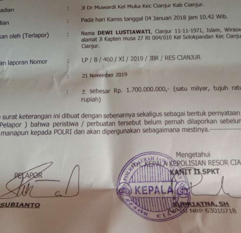 Orang Terdekat Plt Bupati Cianjur yang Dipolisikan Ternyata Adik Kandungnya