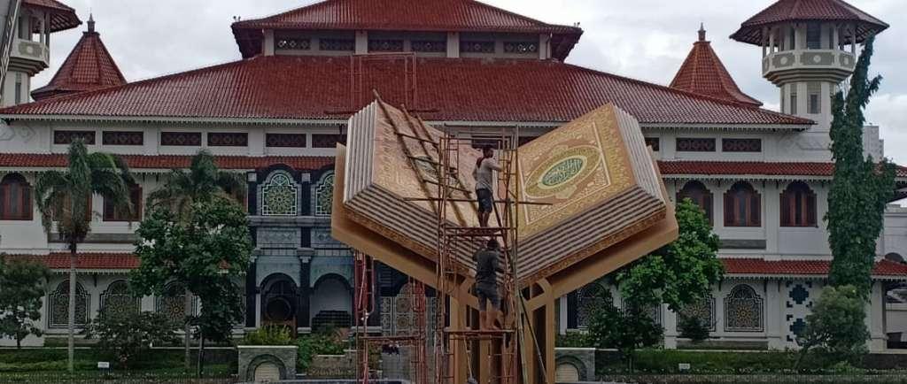 Pemkab Gerak Cepat Perbaiki Monumen Al-Quran yang Rusak