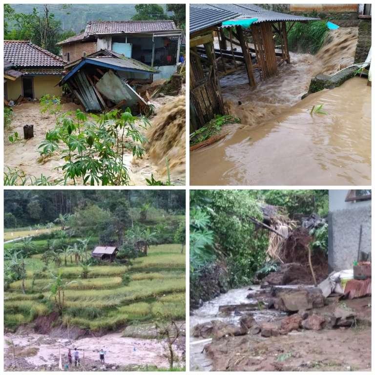Banjir di Naringgul,  4 Rumah Terendam