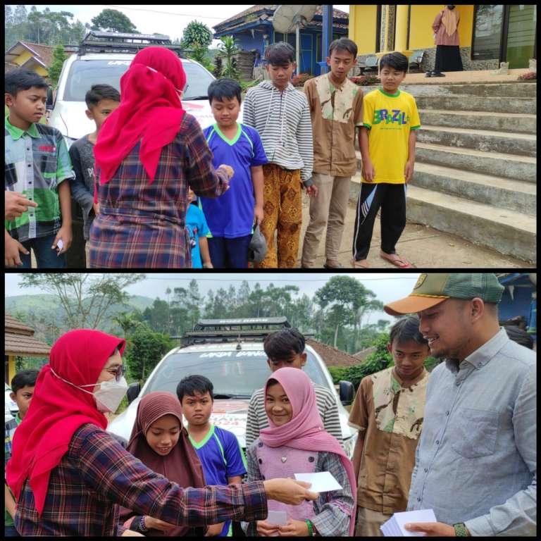 Sapa Anak Yatim dan Jompo di Sukajembar, Neng Eem Berikan Santunan